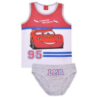 20191013AG Set lenjerie de baieti cu imprimeu Cars, McQueen, Alb/Gri