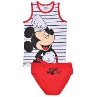 20191014 Set lenjerie de fete cu imprimeu Minnie Mouse, Alb/Rosu