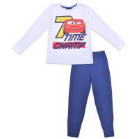 20191034B Pijama de baieti cu imprimeu Cars, Time Champ, Alb/Blue