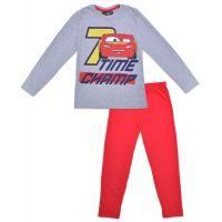 20191034G Pijama de baieti cu imprimeu Cars, Time Champ, Gri/Rosu