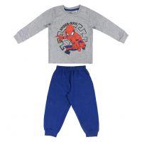 20191505 Pijama cu imprimeu central Spiderman, Alb/Albastru