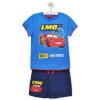20201000AB Set tricou cu maneca scurta si pantaloni Disney Cars, Albastru