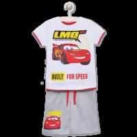 20201000AG Set tricou cu maneca scurta si pantaloni Disney Cars, Alb