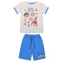 20201001A Set tricou cu maneca scurta si pantaloni Paw Patrol, Albastru
