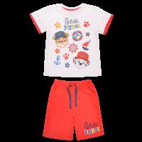 20201001R Set tricou cu maneca scurta si pantaloni Paw Patrol, Rosu
