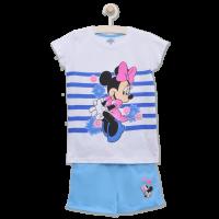 20201003A Set tricou cu maneca scurta si pantaloni Minnie Mouse, Albastru