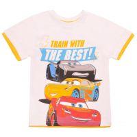 20201007A Tricou cu maneca scurta si imprimeu Disney Cars, Alb