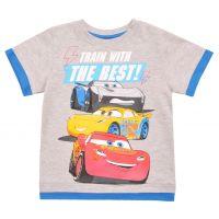 20201007G Tricou cu maneca scurta si imprimeu Disney Cars, Gri