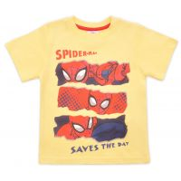 20201010G Tricou cu maneca scurta si imprimeu Spiderman, Galben