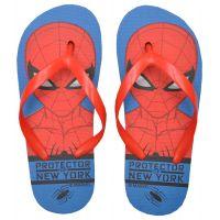 20201020AB Papuci de plaja cu imprimeu Spiderman, Albastru