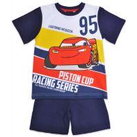 20201037AB Pijama cu maneca scurta si imprimeu Disney Cars, Albastru