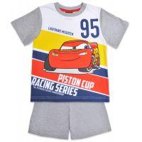 20201037G Pijama cu maneca scurta si imprimeu Disney Cars, Gri