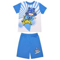 20201039AB Pijama cu maneca scurta si imprimeu Pj Masks, Albastru