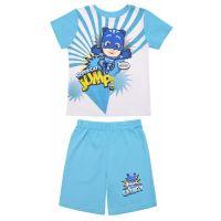20201039B Pijama cu maneca scurta si imprimeu Pj Masks, Blue