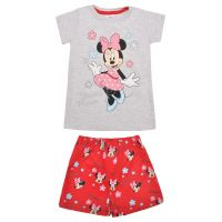 20201042RS Pijama cu maneca scurta si imprimeu Disney Minnie Mouse, Rosu