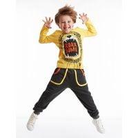 20204131 Set bluza cu maneca lunga si pantaloni sport Denokids 20204131