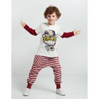 20204145 Set bluza cu maneca lunga si pantaloni sport Denokids 20204145