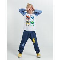 20204149 Set bluza cu maneca lunga si pantaloni sport Denokids 20204149