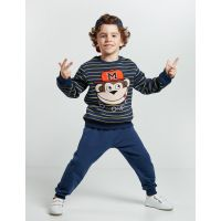 20204150 Set bluza cu maneca lunga si pantaloni sport Denokids 20204150