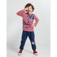 20204154 Set bluza cu maneca lunga si pantaloni sport Denokids 20204154