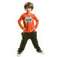 20204169 Set bluza cu maneca lunga si pantaloni sport Denokids 20204169