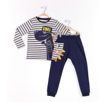 Set bluza cu maneca lunga si pantaloni sport Mushi Dinos 20204183-98 cm (3 ani)