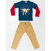 Set bluza cu maneca lunga si pantaloni sport Denokids 20204185-98 cm (3 ani)