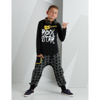 20204197 Set bluza cu maneca lunga si pantaloni sport Mushi Rock Star 20204197