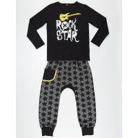 Set bluza cu maneca lunga si pantaloni sport Mushi Rock Star 20204197-98 cm (3 ani)