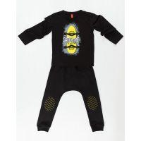Set bluza cu maneca lunga si pantaloni sport cu tur Mushi Catch Me 20204217-98 cm (3 ani)