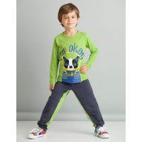 20204221 Set bluza cu maneca lunga si pantaloni sport Mushi I'm Okay 20204221