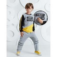 20204222 Set bluza cu maneca lunga si pantaloni sport Mushi Can't Stop Me 20204222