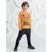 20204229 Set bluza cu maneca lunga si pantaloni sport Mushi Wild Soul 20204229