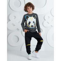 20204230 Set bluza cu maneca lunga si pantaloni sport Mushi Bear 20204230