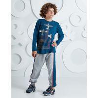 20204231 Set bluza cu maneca lunga si pantaloni sport Mushi 20204231