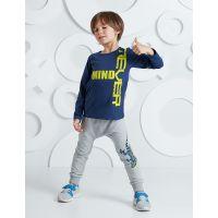 20204241 Set bluza cu maneca lunga si pantaloni sport Mushi Never Mind 20204241