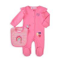 20211041 Set salopeta bebe si bavetica Minoti Berry