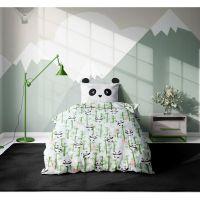 20212106_001 Set 3 piese lenjerie pat copii Viada Panda, 150 x 200 cm