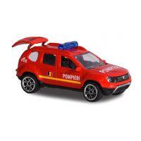 212057181SRO_001 Masinuta Dacia Duster Majorette, 7.5 cm, Pompieri