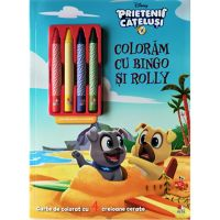Carte Editura Litera, Disney. Prietenii catelusi, Coloram cu Bingo si Rolly