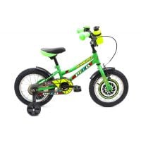 2191401280_001w Bicicleta copii DHS, 14 inch, verde