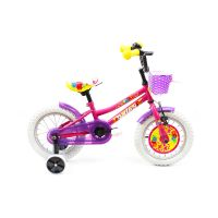 2191402211_001w Bicicleta copii DHS, 14 inch, roz