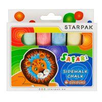 222584_001w Set creta colorata pentru asfalt Starpak, 6 culori