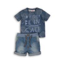 22331177 Set tricou si pantaloni cu buzunare laterale, Minoti Coconut