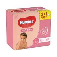 2438320_001w Servetele umede Huggies Soft Skin, 2 + 1, 168 buc