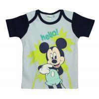 29112317AA Tricou cu imprimeu Disney Mickey Mouse, Hello, Albastru