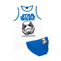 29112332A Set lenjerie baieti cu imprimeu Star Wars, Stormtrooper, Albastru