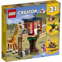 LG31116_001w LEGO® Creator - Casuta din copac cu animale salbatice din safari (31116)