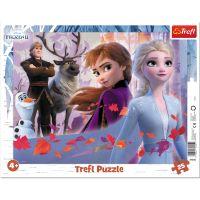 TF31345_001w Puzzle Trefl 25 piese in rama, Aventuri in tinutul inghetat, Disney Frozen 2