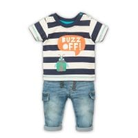 3201020 Set tricou cu maneca scurta si jeans Minoti Leaf Buzz Off